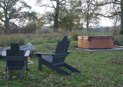 Poachers Chairs and Hot Tub